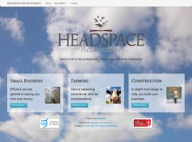 Screenshot of the Headspace Accountancy website