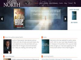 Screenshot of the James North Thrillers website