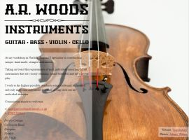 Screenshot of the A.R. Woods Instruments website