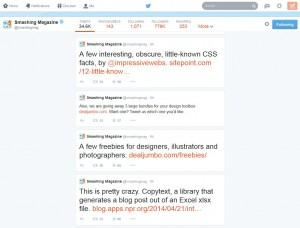 Screenshot showing only 4 tweets visible on the new twitter profiles