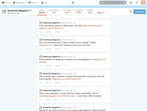 Screenshot of a new twitter profile with Twitter Profile Compactor enabled.