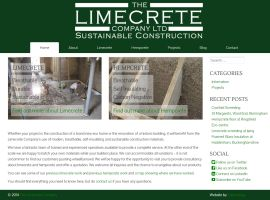 Screenshot of the Limecrete Company website