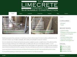 Screenshot of the Limecrete Company website
