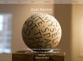 Screenshot of the Gary Breeze website