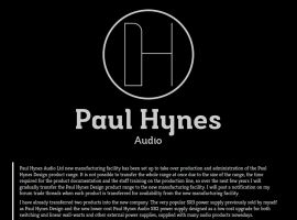 Screenshot of the Paul Hynes Audio website
