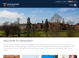 Screenshot of the Cranleigh School website