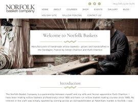 Screenshot of the Norfolk Baskets website