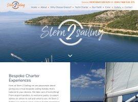 Screenshot of the Stern 2 Sailing website
