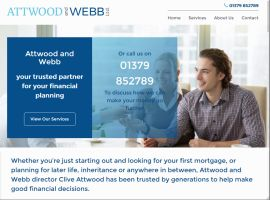 Screenshot of the Attwood and Webb website