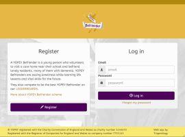 Screenshot of the YOPEY Befriender website