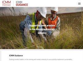 Screenshot of the ICMM Guidance website